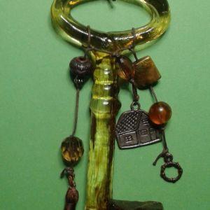 Διακοσμητικο κλειδι απο γυαλι