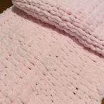 χειροποίητη βρεφική κουβέρτα πλεκτη 0,80Χ1,10