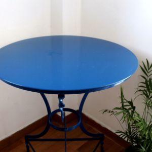 Τραπέζι μεταλλικό στρογγυλό εσωτερικού/εξωτερικού χώρου