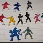 11 Φιγούρες Power Rangers mini figures Αβγά Τόμπολα Tobola Chocolate Eggs 90s Rare