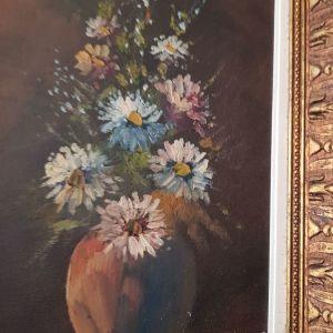 Παλαιός πίνακας ζωγραφισμένος σε καμβά