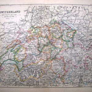 Bartholomew 1860 Χάρτης Ελβετίας