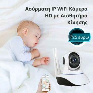 Ασύρματη ip camera με αισθητήρα κίνησης