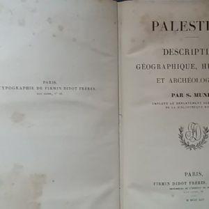 Salomon Munk, Palestine, Παρίσι, 1845.