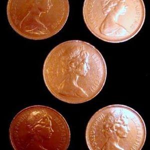 Παλαιά νομίσματα του Ηνωμένου Βασίλειου - τμχ 5.