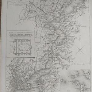 Χάρτης Κωνσταντινούπολη Βοσπόρου Αγιά Σοφιά πριγκιπονησα Χαλκογραφία 1836