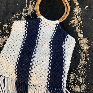Πλέκτη τσάντα με χέρι μπαμπού