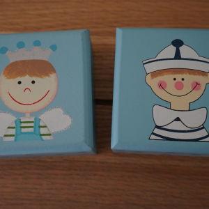 2 ξυλινα κουτακια
