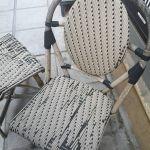 δύο καρέκλες μπαμπού για επιδιόρθωση στο κάθισμα