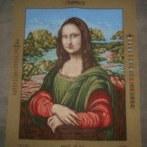 Μόνα Λίζα τυπωμένος πίνακας σε καμβά για κέντημα