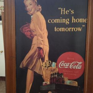 διαφημιστικό κάδρο της κόκα κόλα πωλείται. 25ευρω