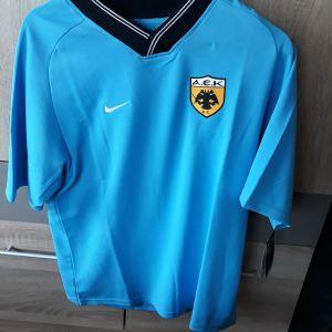 ΑΕΚ  φανέλα  2003 Nike  γαλάζια