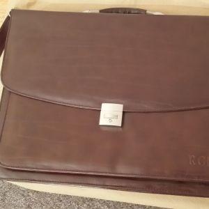 Τσάντα δερμάτινη (γνήσιο δέρμα), ώμου, ολοκαίνουργια