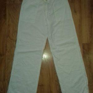 λινό παντελόνι γυναικείο Μ/L