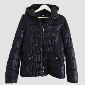 Μπουφάν H&M, μπλε σκούρο size 38 M-L!