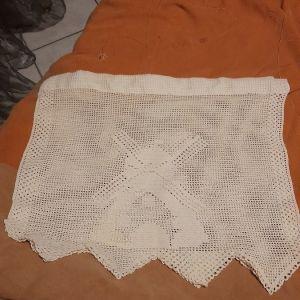 Δυο πετσετακια για ραφακια χειροποιητα πλεκτα με βελονακι
