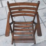 Καρέκλες εξωτερικού χώρου ξύλινες αναδιπλούμενες
