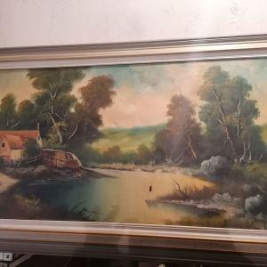 Πίνακας σε μουσαμά 1960