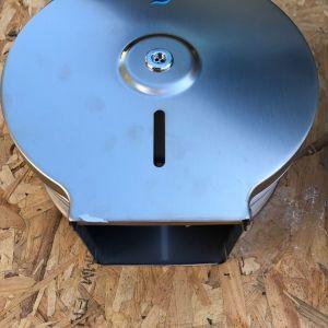 Θήκη για χαρτί τουαλέτας υγείας Jofel Inox από ανοξείδωτο ατσάλι επαγγελματική Διάμετρο 22cm Βάθος 12,5cm