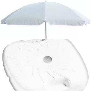 2 ομπρέλες θαλάσσης με 2 βάσεις