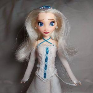 OOAK custom repaint: Frozen Queen Elsa Art Doll - Ψυχρά κι Ανάποδα Βασίλισσα Έλσα Κούκλα Τέχνης