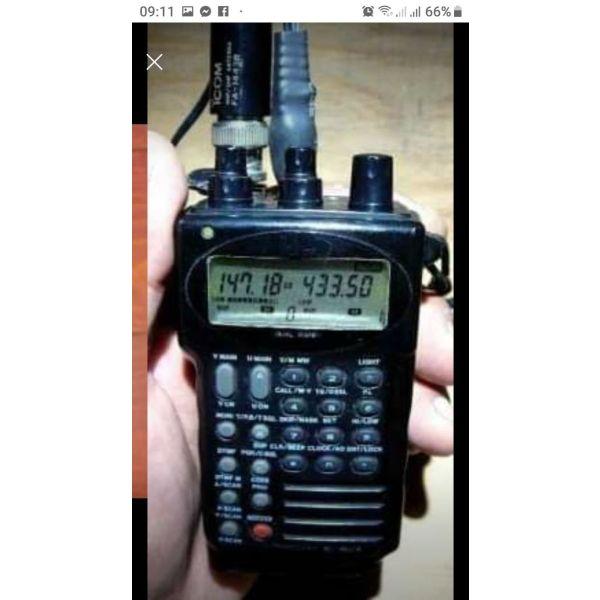 polite foritos pompodektis VHF-UHF ICOM IC-W2A se aristi katastasi