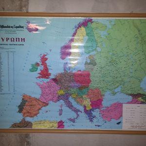 Χάρτης Ευρώπης διπλής όψης