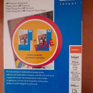 HP photo paper inkjet glossy χαρτί 60 φύλλα 240 grm 10 x 15