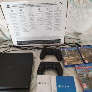 PS4 SLIM 1TB ΜΕ 3 GAMES ΚΑΙ 2 DUALSHOCK 4
