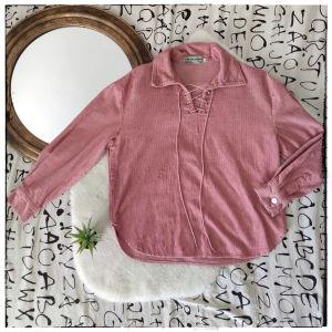 [ BLOUSE ] Vintage Pinkish Blouse    Μακρυμάνικη Μπλουζα