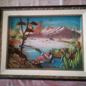 Πίνακας πολύ παλιός ξύλινος.