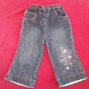 Παντελόνι τζιν λουλουδάκι Mothercare (9-12 μηνών)