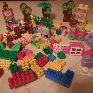 Διάφορα τουβλάκια Lego duplo, Clementoni και Mega blocks