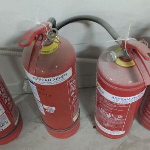6 πυροσβεστηρες καινούργιοι λόγω κλεισειμο μαγαζιου η τιμή είναι για ολους