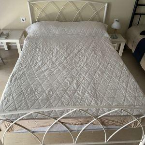 Μεταλλικό Διπλό κρεβάτι με στρώμα