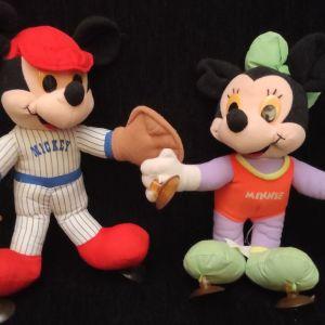 """Πωλείται Ζευγάρι της Disney   Mikey & Minnie  Vintage Toys   80's """"Αρκουδάκια"""" με Βεντούζες"""