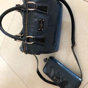 Pauls Boutique τσάντα με ασορτί πορτοφόλι ντεγκραντέ μπλε