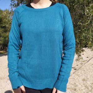 Απλό μπλε πουλόβερ, Bershka