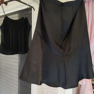 8 ευρώ μαζί. είμαι σατέν αφορετο υπέροχο σύνολο. φούστα μέση 42 κ μπλούζα από μασχάλη σε μασχάλη 46