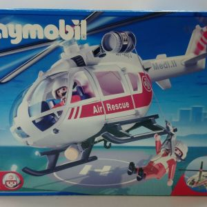 2005 #4222 GEOBRA PLAYMOBIL RESCUE MEDICAL HELICOPTER MISB