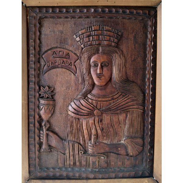 xiloglipti ikona agias varvaras 1890-1900