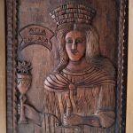 Ξυλόγλυπτη εικόνα Αγίας Βαρβάρας 1890-1900