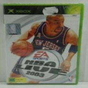 NBA LIVE 2003 XBOX VIDEO GAME EUROPEAN PAL SEALED