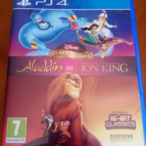 PS4 Games-Disney Classic Lion King and Aladdin