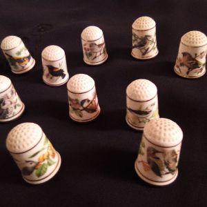Συλλογή από δέκα χειροποίητες δαχτυληθρες. Franklin porcelain.