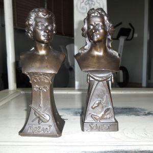 2 Μπρούτζινα αγάλματα