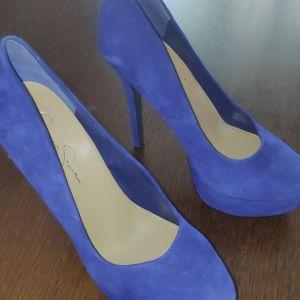 Jessica Simpson Ψηλοτάκουνες γόβες, Νr 40, suede, Royal Blue