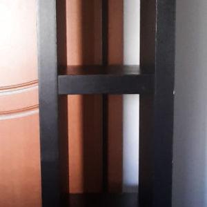 Μίμιμαλ Έπιπλο TV με ράφια - Χρώμα Μαύρο