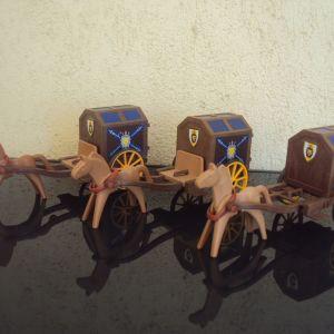 Playmobil.Μεσαιωνικες αμαξες.