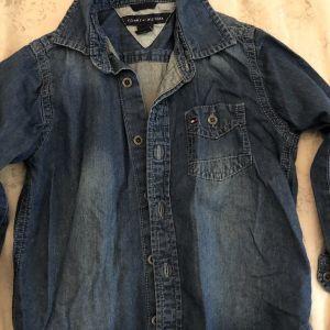 Τζιν πουκάμισο παιδικό-βρεφικό μπλε - Tommy Hilfiger kids